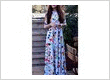 Rayon bright multi colored party wear printed long dress