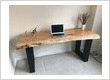 Live Edge Wormy Maple Desk