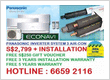 PANASONIC INVERTER AIRCON
