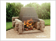 The Picnic outdoor fireplace
