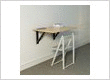 Wall-mounted, easy to use, space saving folding table used in kitchens / living rooms or bedrooms