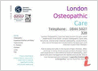 London Osteopathic Care