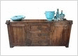 Rustic Wood Wall Unit & Ceramics http://www.hotdesign.co.nz