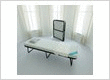 Lightweight folding bed with mattress for daily use