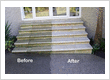 Hinuera Stone Steps during the cleaning process