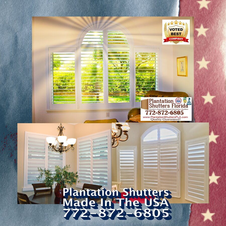 Plantation Shutters Arches - Made in America with Pride