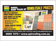 New Boral Roof Tiles at Wholesale prices