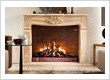 Traditional Mantle Gas Fireplace
