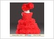 Red Baby Girl Ruffle Dress, Flower Girl Wedding Outfit