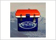 Red White and Blue ICEY-TEK 25 QT Cooler