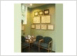 Waiting area and accolades display at Long Valley dentist Cazes Family Dentistry, LLC