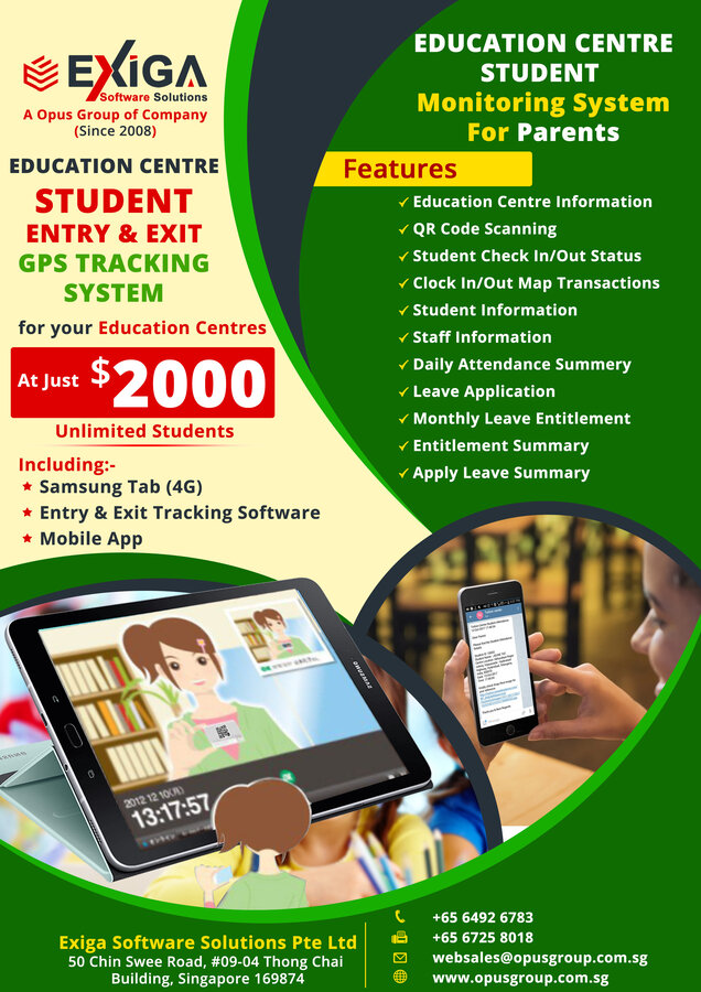 Education Centre Student Entry & Exit GPS Tracking System