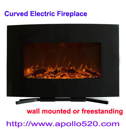 Offer 36 Inch Fireplace with Wall Mount & Floor Stand