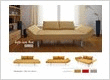 Siller - Modern 2 seater sofa bed in brown color with cushions and multi-position arm system.