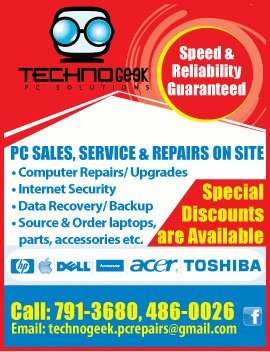Techno Geek PC Solutions Brand New Order Service for Laptop and Accessories