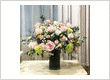 Arrangement of Mix Flowers Which Consists Of Roses, Rose Sprays, Chrysanthemum and Fillers In A Vase
