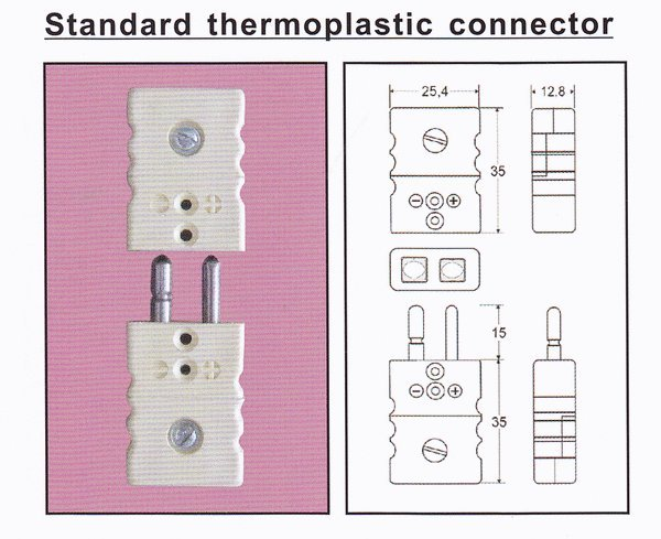 Jual Thermocouple Connector Standard Size Thermoplastic